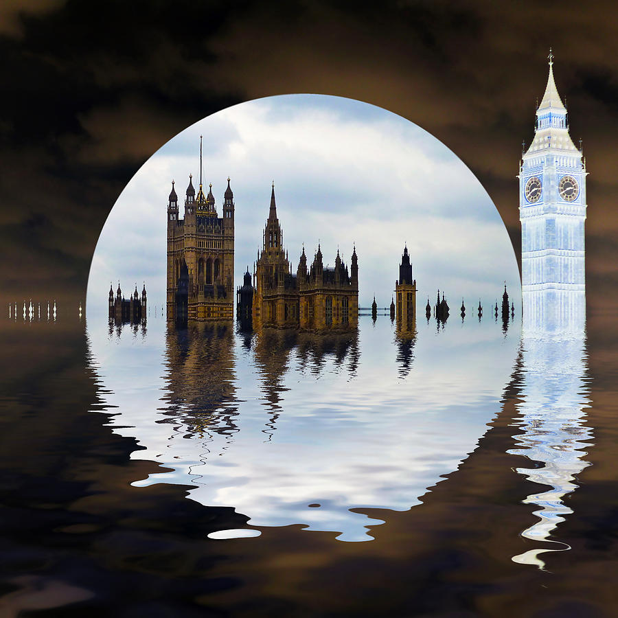 London Photograph - Manipulated Politics by Sharon Lisa Clarke