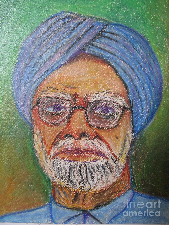 Prime Minister Painting - Manmohan Singh by Nedunseralathan R
