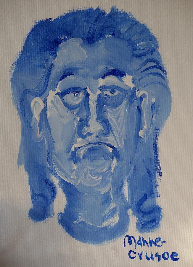 Jay Painting - Manne-crusoe Blue by Jay Manne-Crusoe