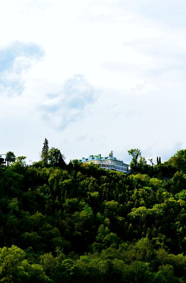 Manoir Photograph - Manoir On The Hill by Josee Dube
