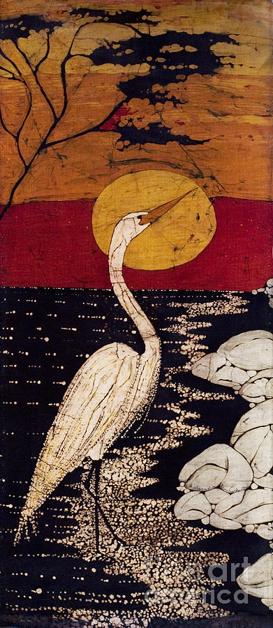 Great White Egret Tapestry - Textile - Manos Egret by Alexandra  Sanders