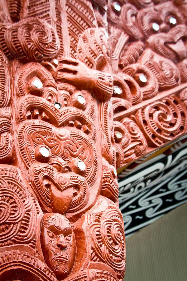 Maori Photograph - Maori Meeting House 2 by Jonathan Hansen