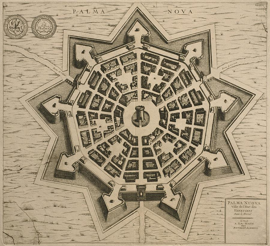 Engraving Drawing - Map Of Palmanova by French School