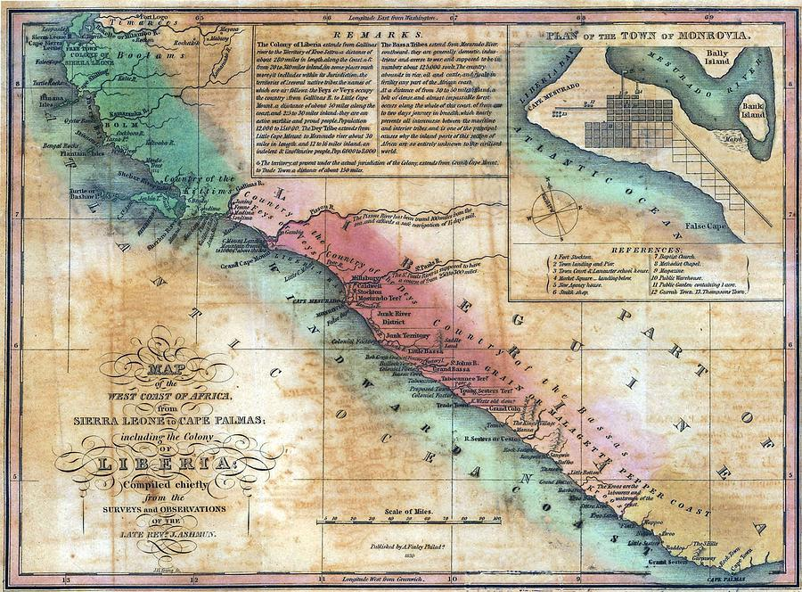 History Photograph - Map Of The West Coast Of Africa by Everett