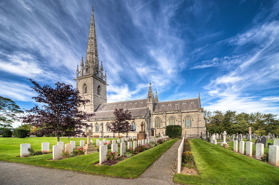 Cemetery Photograph - Marble Church by Adrian Evans