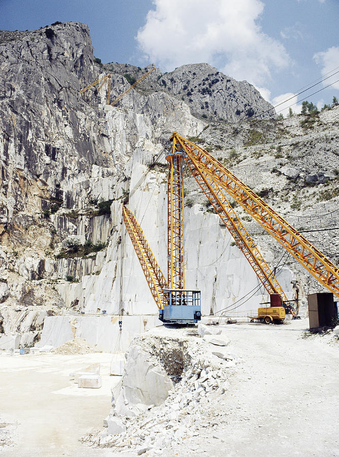 Carrara Marble Photograph - Marble Quarry by Dirk Wiersma