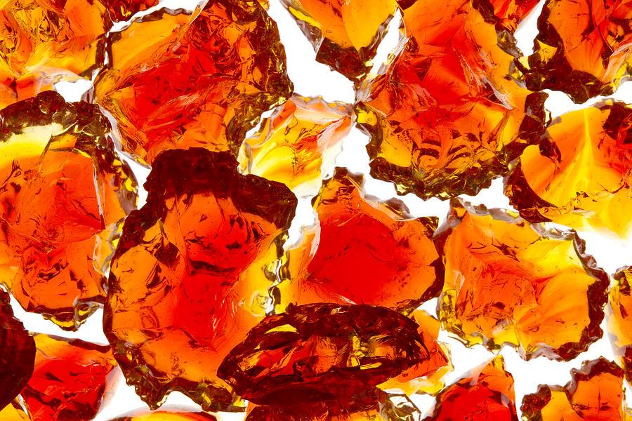 Broken Photograph - Marble Red Crackle Broken 1 B by John Brueske
