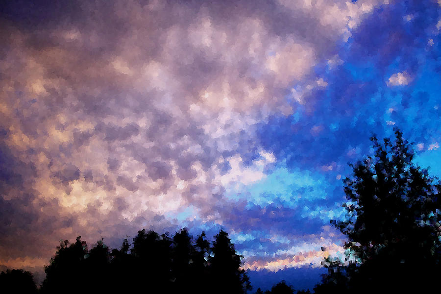 Sunset Photograph - Marbled by Kevin Bone