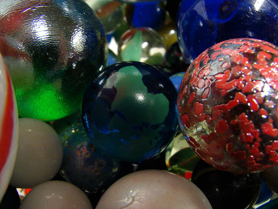 Marble Photograph - Marbles Around The World by K Walker