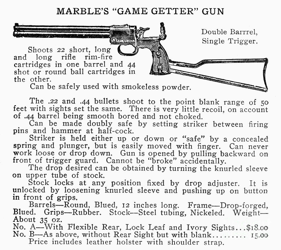 20th Century Photograph - Marbles Game Getter Gun by Granger