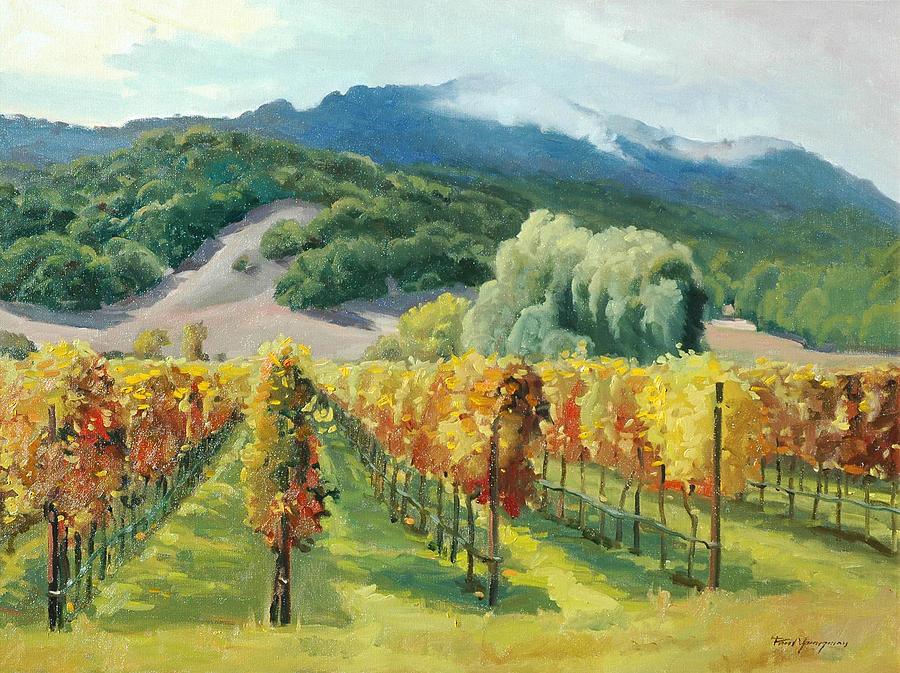 Napa Valley Painting - March Of November by Paul Youngman