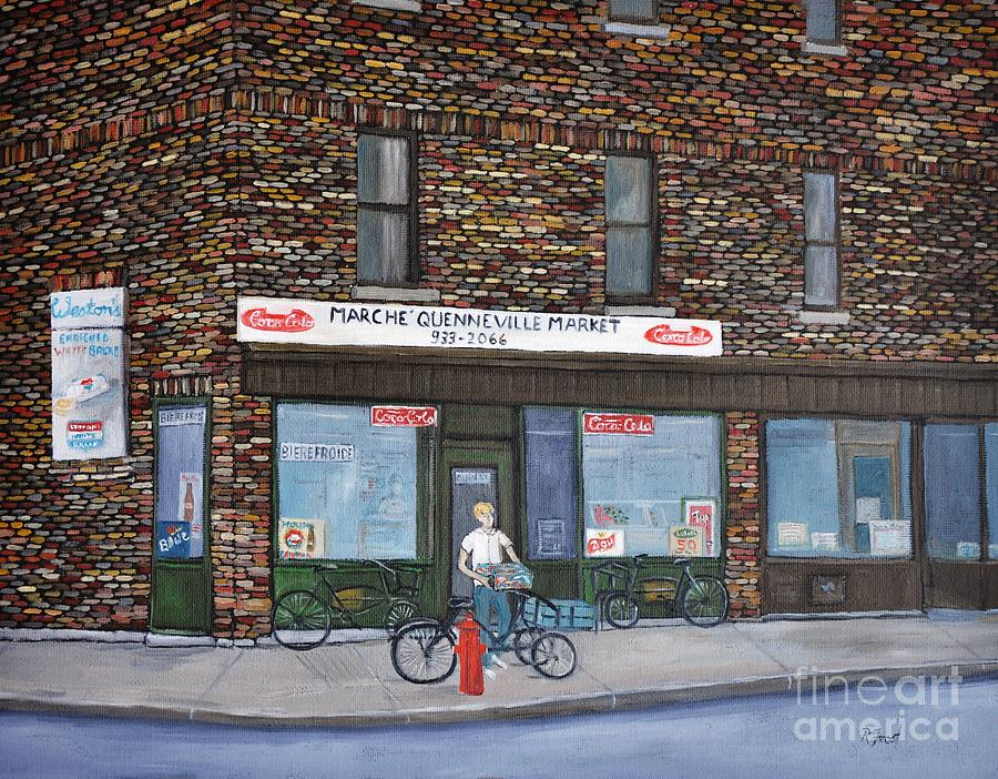 Depanneurs Painting - Marche Quenneville Pointe St. Charles by Reb Frost