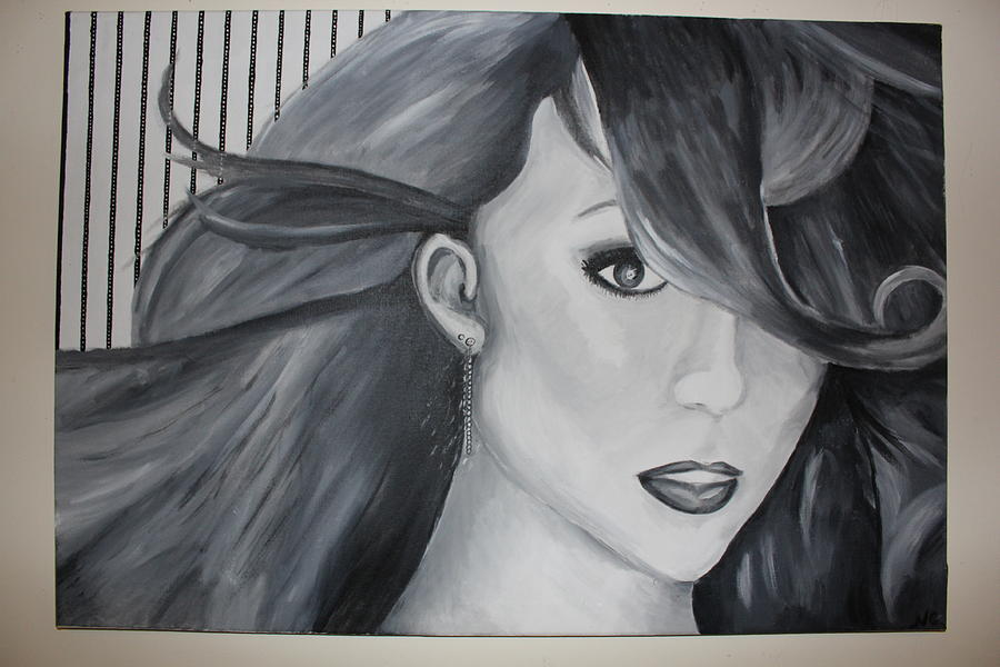 Girl Painting - Mariah Carey by Nicole Caruso