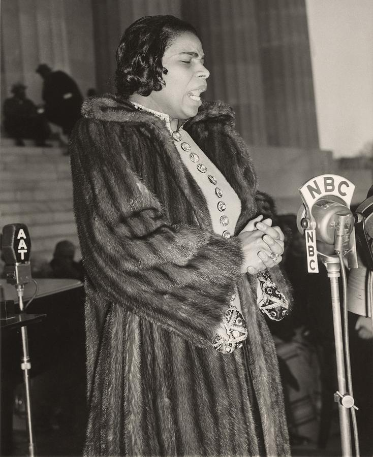 History Photograph - Marian Anderson 1897-1993, At A Nbc by Everett