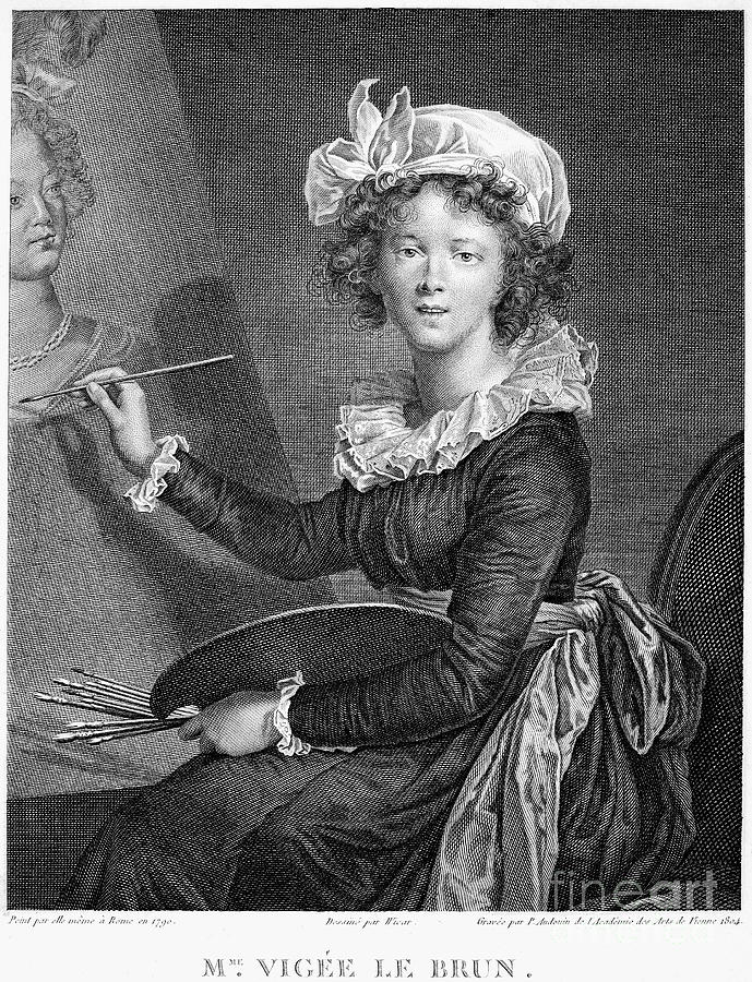 1790 Photograph - Marie Anne Vigee-lebrun by Granger