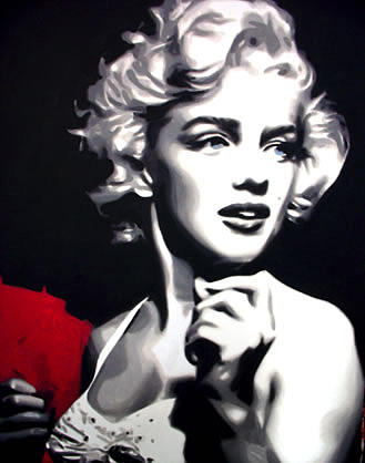 Toro Painting - Marilyn Blue Eyes by Marco Toro