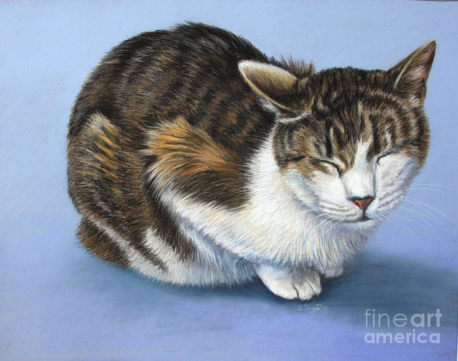 Cat Painting - Marilyn by Deb LaFogg-Docherty