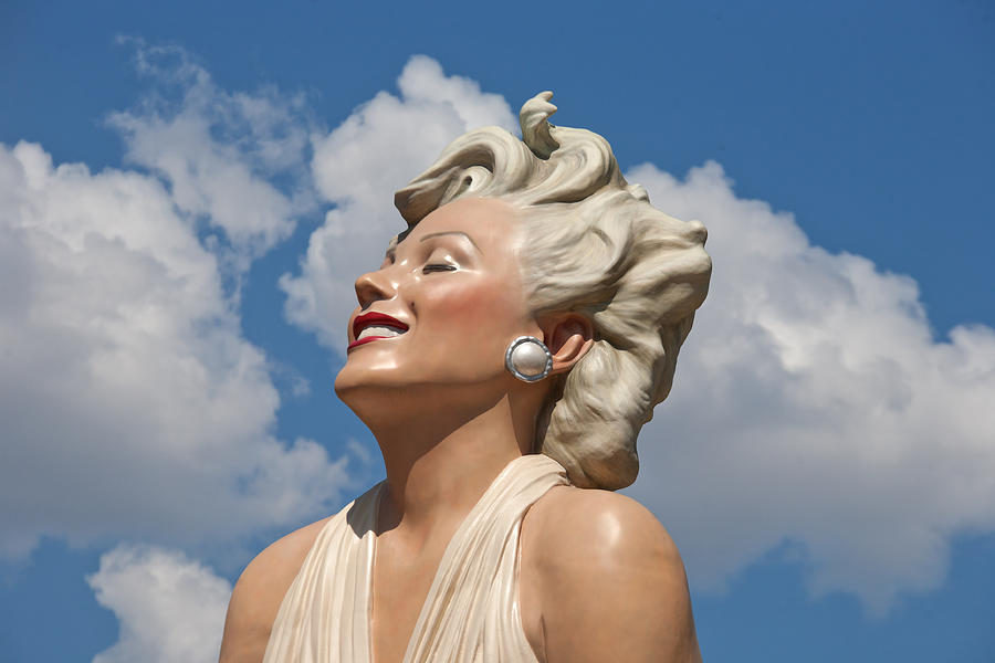 Clouds Photograph - Marilyn In The Clouds by Matthew Bamberg