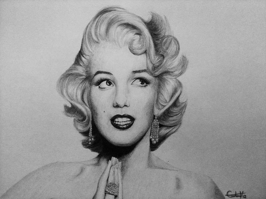 Marilyn Drawing - Marilyn Monroe 2 by Carlos Velasquez Art