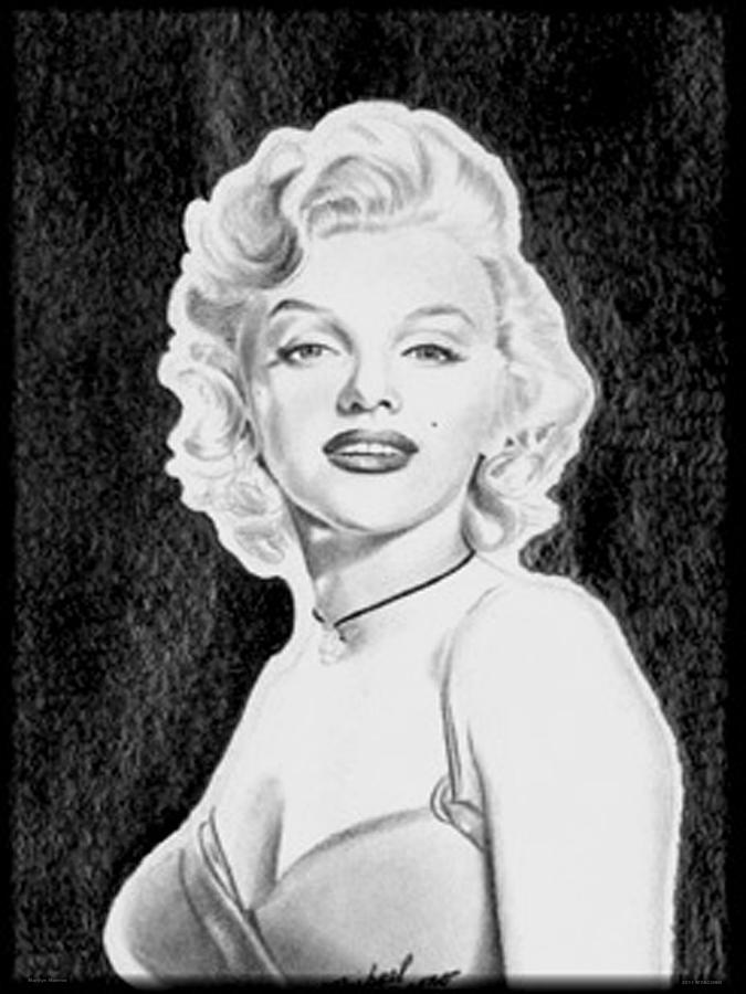 Marilyn Drawing - Marilyn Monroe by Michael Yacono