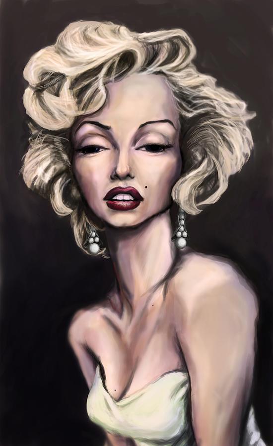 Marilyn Painting - Marilyn Monroe by Tyler Auman
