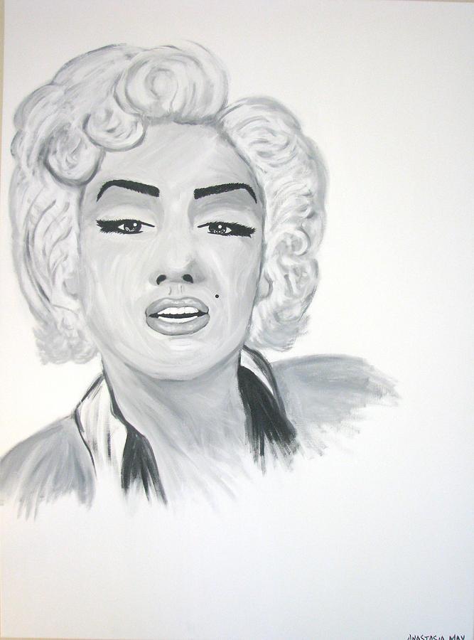 Marilyn Munroe Painting by Anastasia May