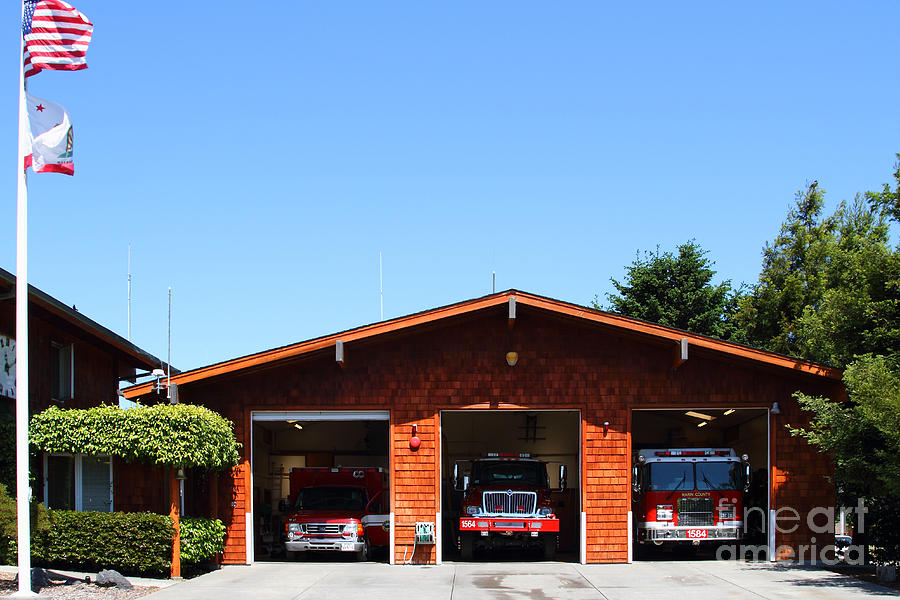 Point Reyes Photograph - Marin County Fire Department . Point Reyes California . 7d15919 by Wingsdomain Art and Photography