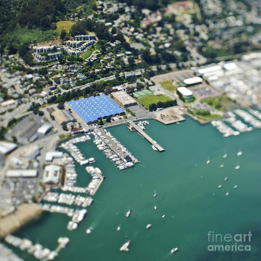 Aerial Photograph - Marina And Coastal Community by Eddy Joaquim