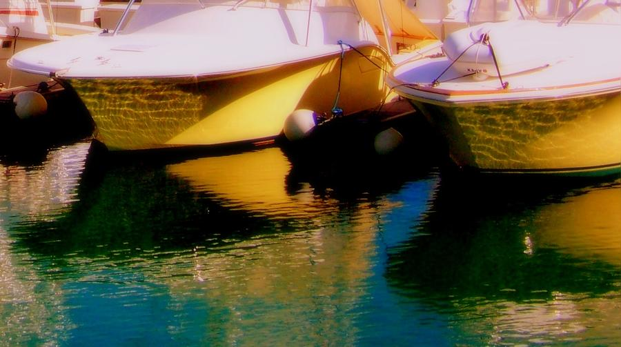 Boats Photograph - Marina Rainbow by Karen Wiles