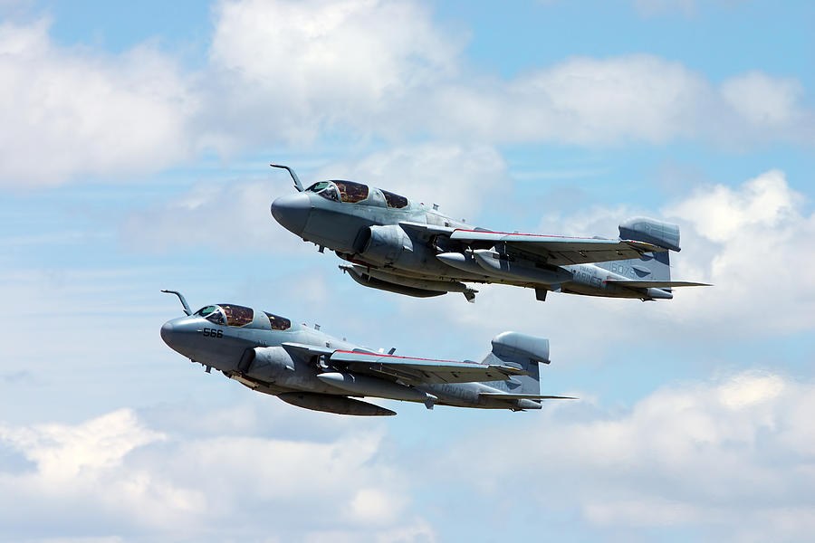 Aircraft Photograph - Marine Prowlers by Pat Speirs