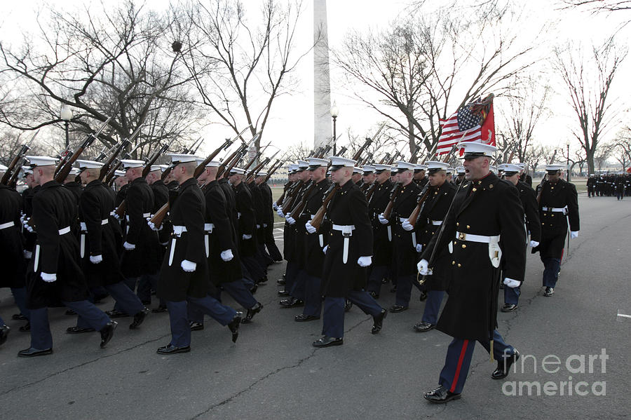 Full Length Photograph - Marines Participate In The 2009 by Stocktrek Images