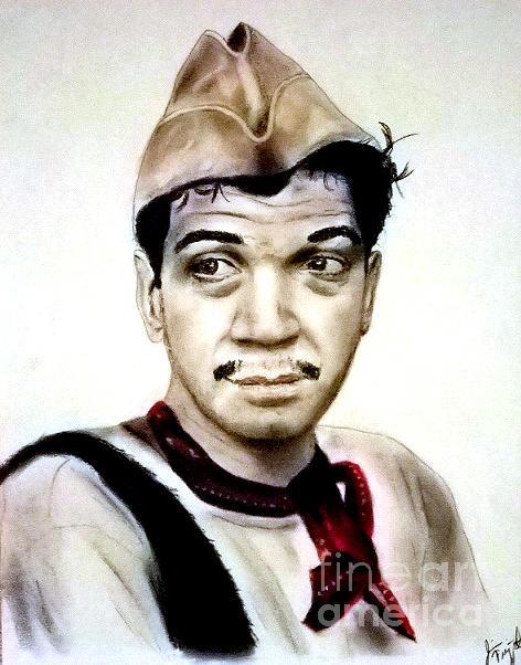 Legendary Pastel - Mario Moreno As Cantinflas In El Bombero Atomico  by Jim Fitzpatrick