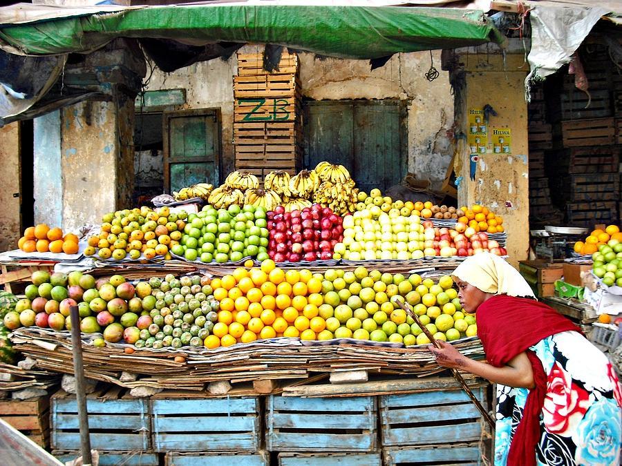 Apples Photograph - Market Of Djibuti-1 by Jenny Senra Pampin