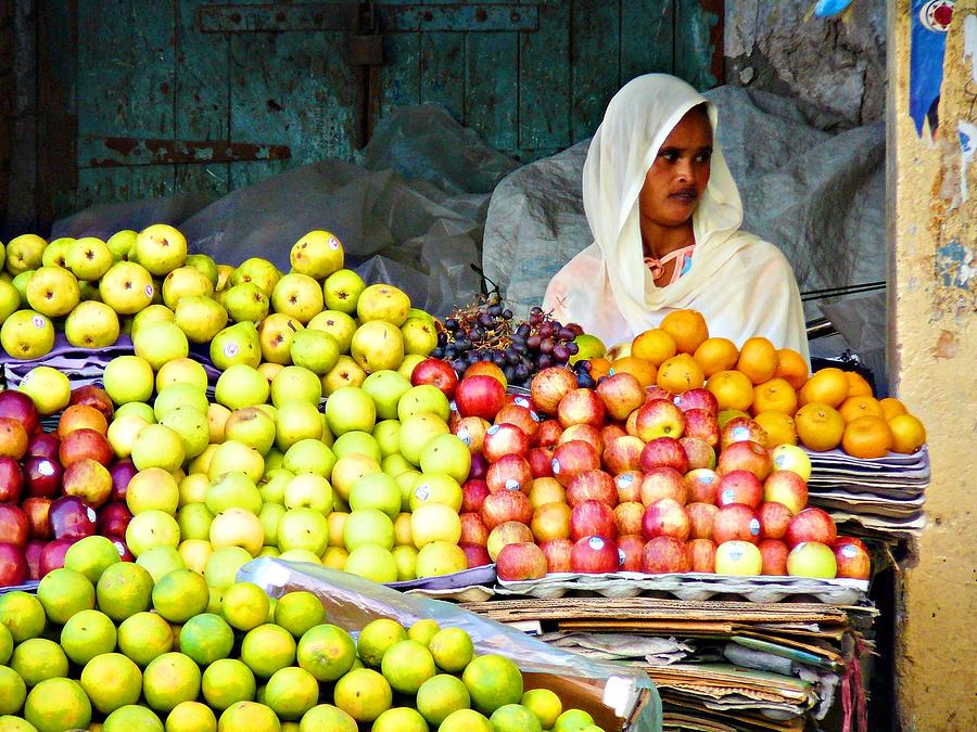 Apples Photograph - Market Of Djibuti-3 by Jenny Senra Pampin