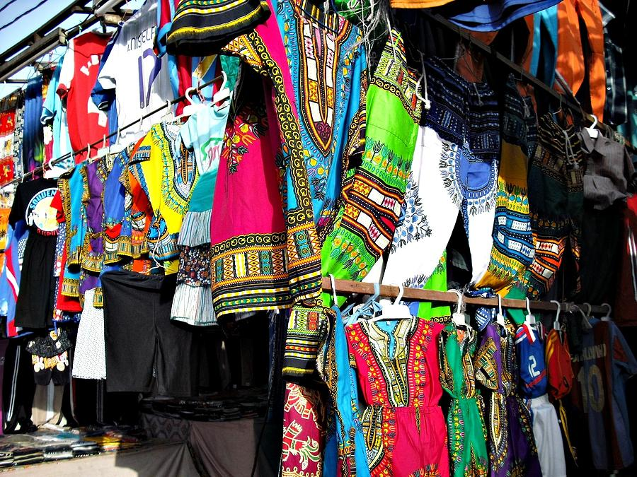 Trousers Photograph - Market Of Djibuti With More Colors by Jenny Senra Pampin
