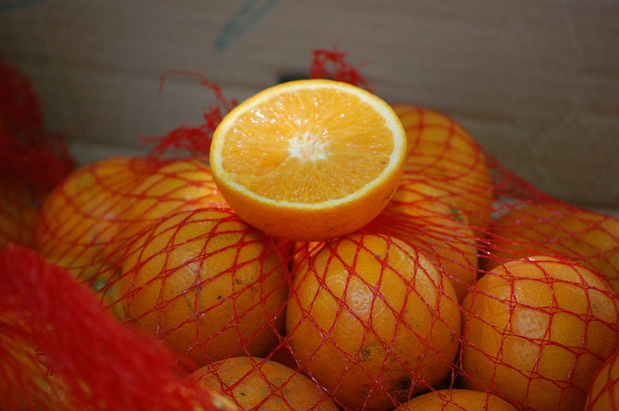 Pure Photograph - Market Oranges by Dickon Thompson