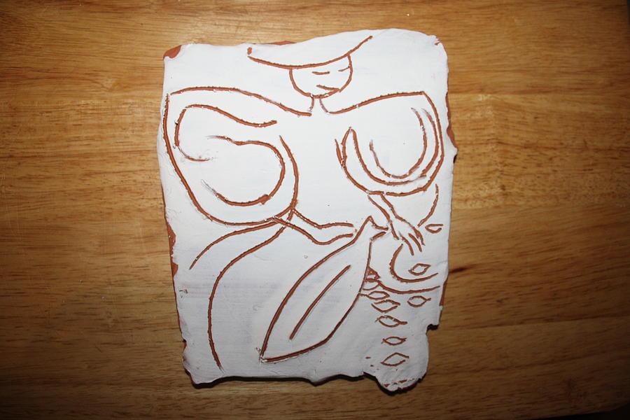 Jesus Ceramic Art - Market Seller 1 by Gloria Ssali