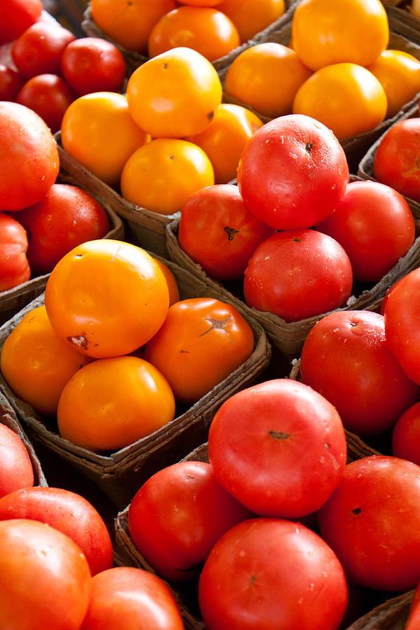 Tomatoes Photograph - Market Tomatoes by Lauri Novak