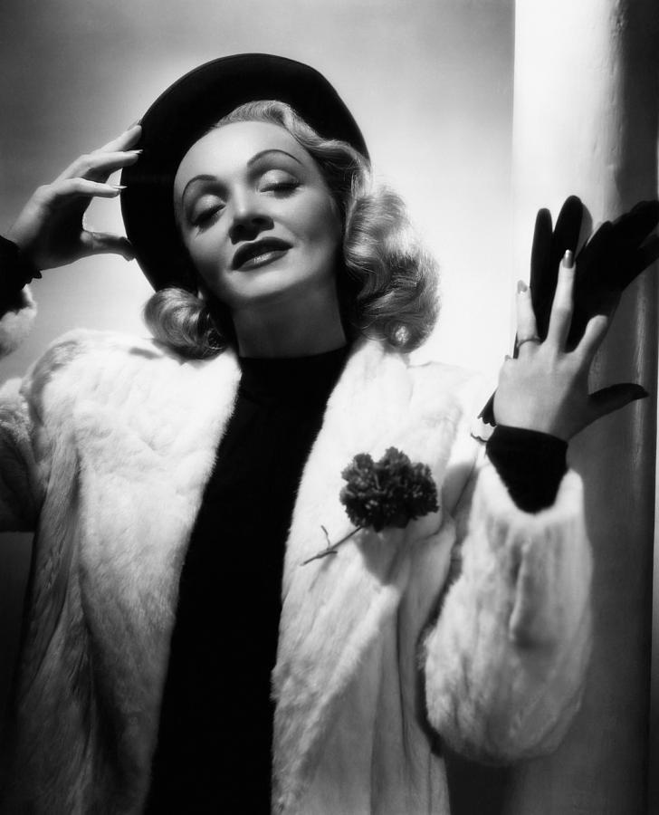1940s Portraits Photograph - Marlene Dietrich, Ca. Early 1940s by Everett