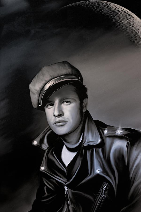 Cinema Digital Art - Marlon Brando  by Andrzej Szczerski