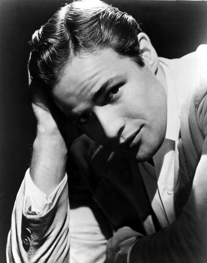 1950s Portraits Photograph - Marlon Brando by Everett