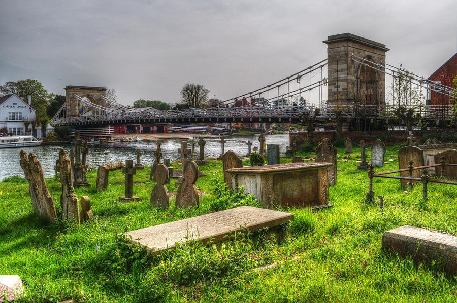 Marlow Bridge Photograph - Marlow Bridge From All Saints Graveyard by Chris Day