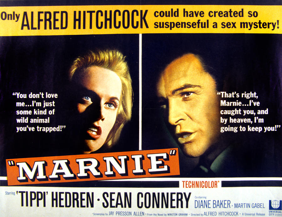1964 Movies Photograph - Marnie, Tippi Hedren, Sean Connery, 1964 by Everett
