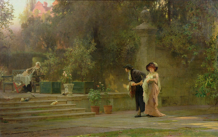 Couple Painting - Married For Love by Marcus Stone