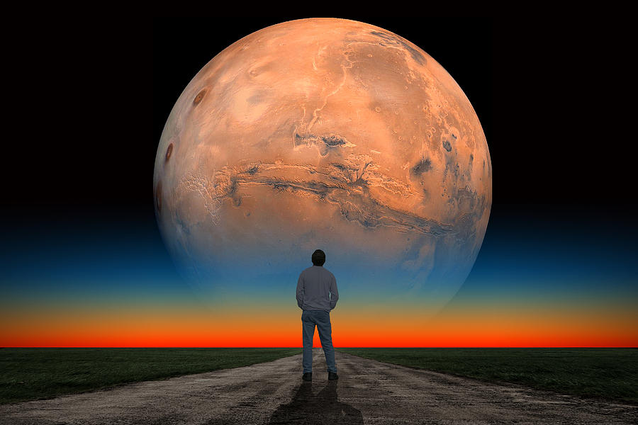 Mars Photograph - Mars Man by Larry Landolfi