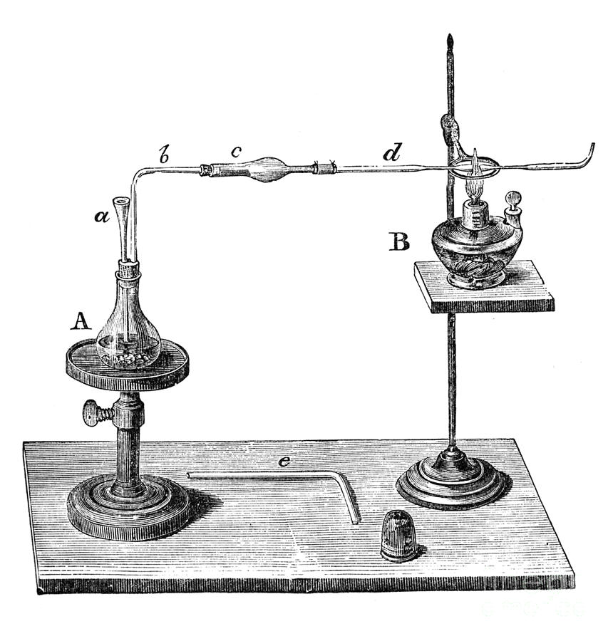 Science Photograph - Marsh Test Apparatus, 1867 by Science Source