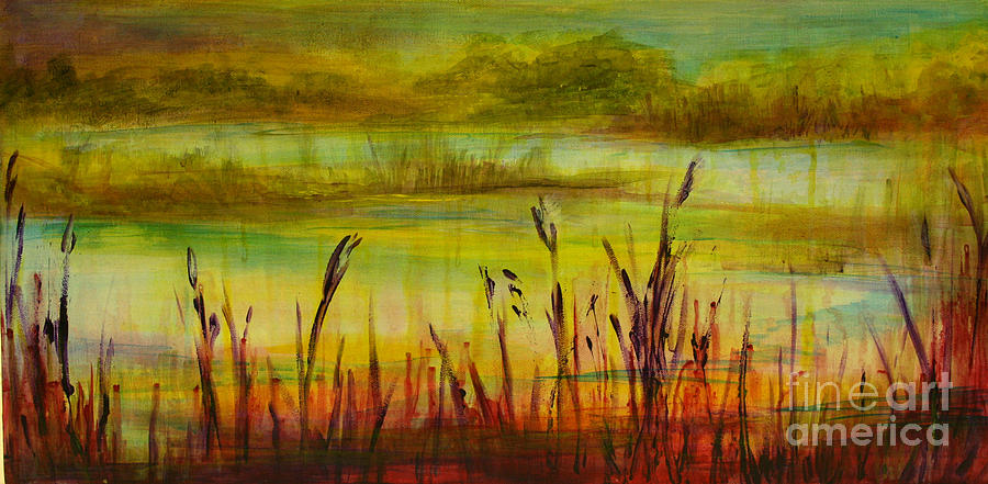Landscape Painting - Marsh View by Sandra Taylor-Hedges