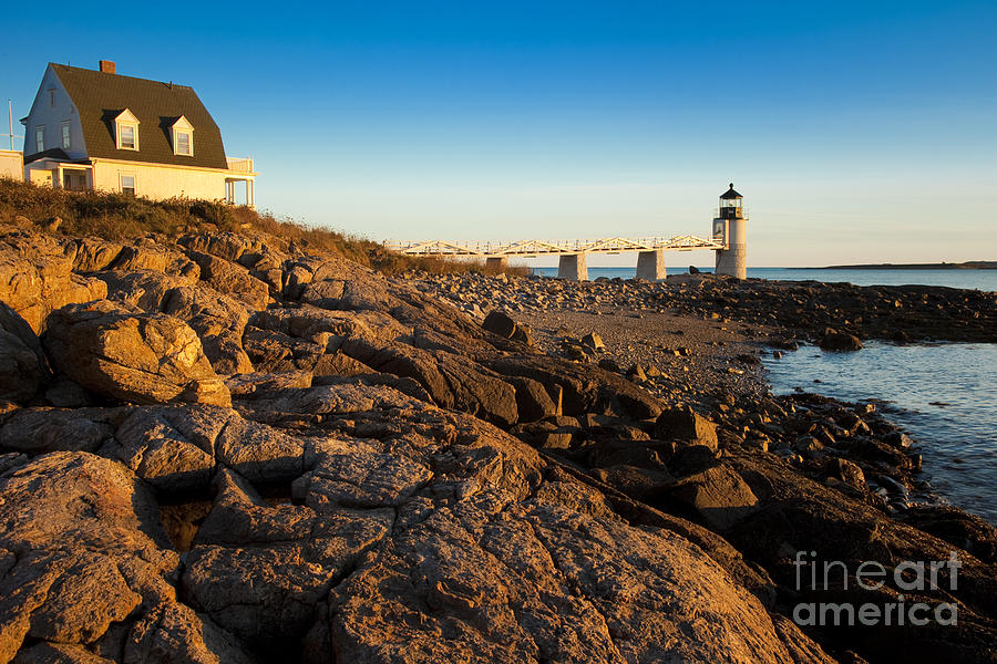 Lighthouse Photograph - Marshall Point Lighthouse by Brian Jannsen