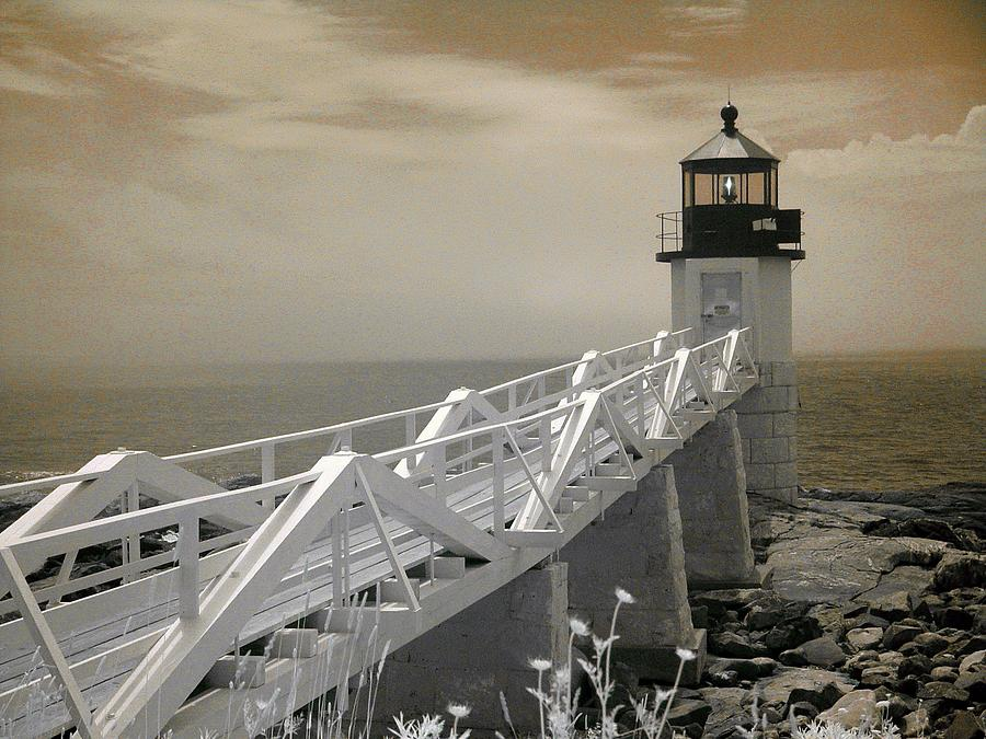 Infrared Photograph - Marshall Point by PMG Images