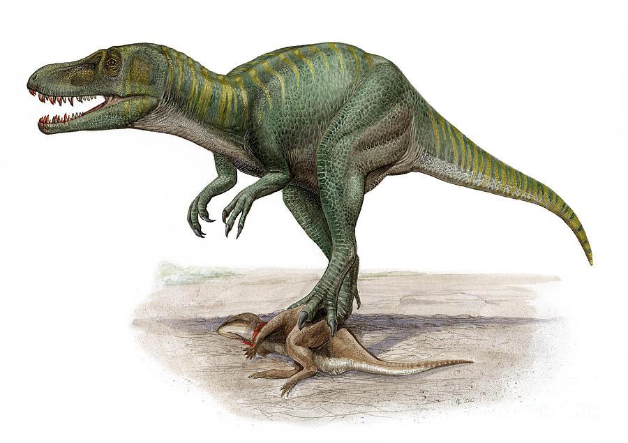 Horizontal Digital Art - Marshosaurus Bicentesimus by Sergey Krasovskiy